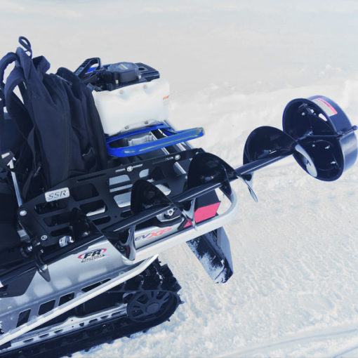 Snowmobile Rack, Ice Auger Rack